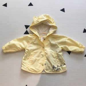NEVER WORN - yellow rain jacket